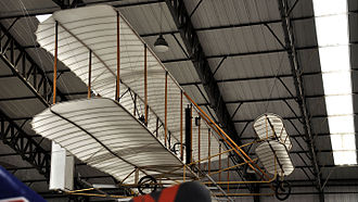 Yorkshire Air Museum - Replica of a Wright Flyer at the museum