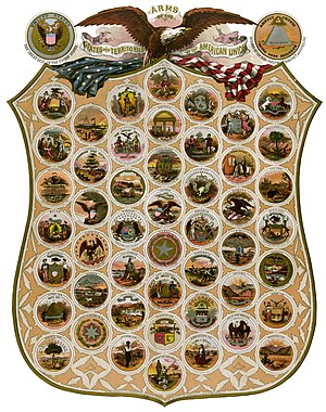 Emblems of USA in 1876