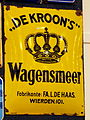 Enamel advert, De Kroon's, Wagensmeer.JPG