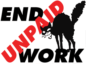 Solidarity Federation - SolFed End Unpaid Work campaign logo for 2012