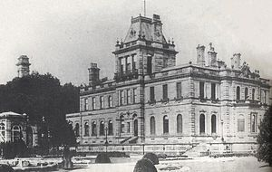 Endcliffe Hall - The hall seen shortly after its construction in the 1860s.