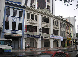 Ampang, Kuala Lumpur - Pre-war buildings on Ampang Road. Only one of the buildings pictured still retains the original windows.