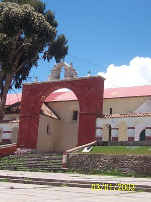 Chucuito - Side entrance of the Church of the Assumption in Chucuito.