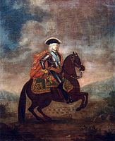 Equestrian portrait of Boris Sheremetev (18 c., Kuskovo).jpg