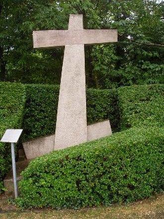 "1356 Basel earthquake - Erdbebenkreuz (""Earthquake cross"") in Reinach"