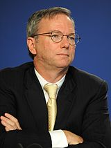 Eric Schmidt of Google, seeming desperate (from Wikipedia)