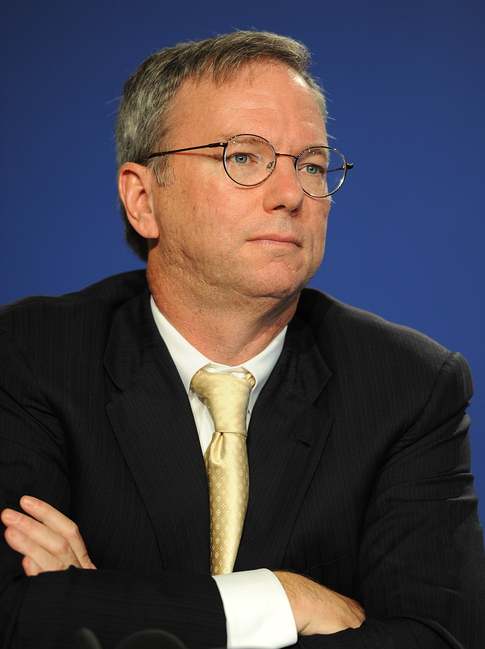Eric Schmidt at the 37th G8 Summit in Deauville 037