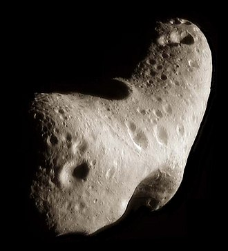 NEAR Shoemaker - Near-Earth asteroid Eros as seen from the NEAR spacecraft.