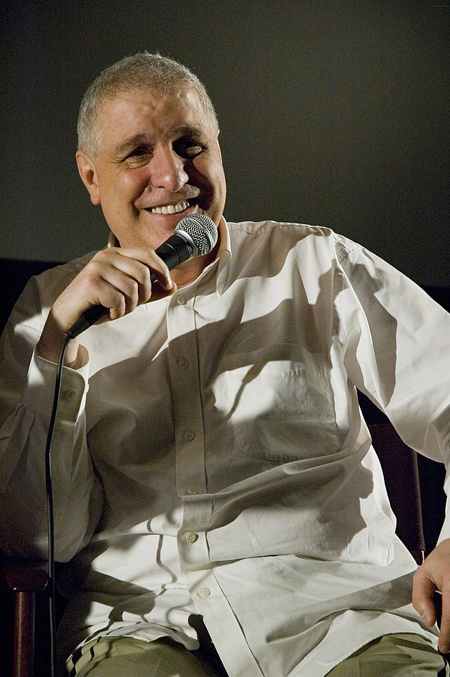 The 69-year old son of father (?) and mother(?), 180 cm tall Errol Morris in 2017 photo