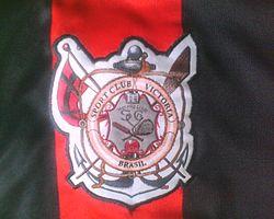 073b3518e2 Começando no futebol. Foto do escudo antigo do Vitória ...