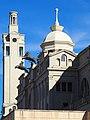 Estadi Olímpic Lluís Companys detall dels aurigues escultures eqüestres de Pau Gargallo PB080017 - Flickr - tgrauros.jpg