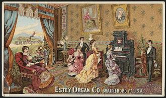 Estey Organ - Estey Organ trading card (late 19th century)
