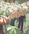 Ethel Spowers. Wet afternoon, 1930. Linocut.jpg