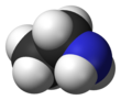 Spacefill model of ethylamine