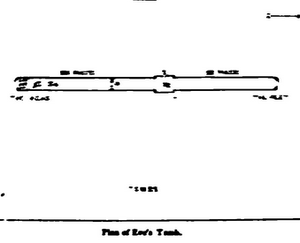 Tomb of Eve - Plan of tomb of Eve by Sir Richard Francis Burton