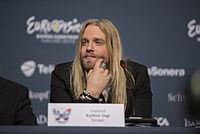 Eyþór Ingi, ESC2013 press conference 07.jpg
