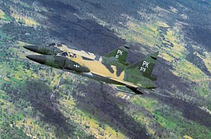 509th Tactical Fighter Squadron - F-102A Delta Dagger interceptors of the 509th Fighter Interceptor Squadron over Vietnam in November 1966.