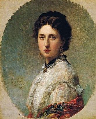 Ricardo de Madrazo - Cecilia de Madrazo, painting by Frederico de Madrazo, 1869. Ricardo's sister, Cecilia married Ricardo's friend, the great Spanish painter, Maria Fortuny