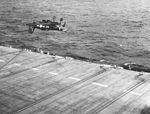 F4U-4 of VA-74 crashes near USS Philippine Sea (CV-47) 1949.jpg
