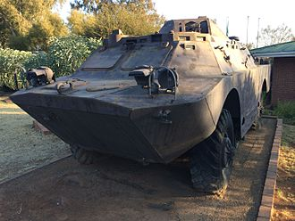 Operation Protea - FAPLA BRDM-2 captured during Protea. This example now resides at the SANDF School of Armour, Bloemfontein.