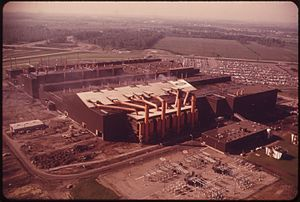 Flat Rock Assembly Plant - Casting plant, 1973.