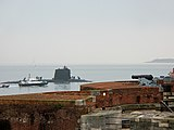 FS Amethyste under the guns of Henry VIII's Southsea Castle.JPG