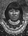 Face detail, from- Western-educated Paiute indian girl, Yosemite Valley, 1902 (CHS-920) (cropped).jpg