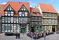 Fachwerkhäuser am Schlossberg in Qudlinburg. IMG 1991WI.jpg