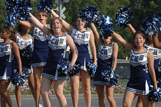Lamar Consolidated High School - Lamar Consolidated High School cheerleaders at the 2007 Fort Bend County Fair
