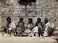 Famine in Mysore, India; six emaciated women, five sitting a Wellcome V0029720.jpg