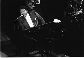 1928 in jazz - Fats Domino in concert at Deauville (Normandy, France) in 1992.