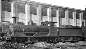 LSWR 395 class - 3167 at Feltham depot 1947