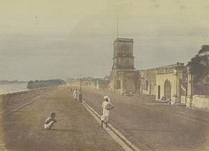 Chandannagar - Chandannagar waterfront c. 1850