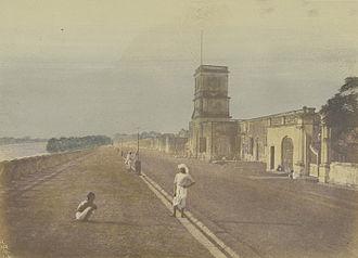 Chandannagar - Chandannagar waterfront c. 1850