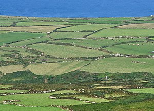 Cornish hedge - Ancient field system of Cornish hedges near Zennor