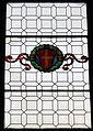 Fiesole, s. domenico, int., vetrata con stemma guadagni.JPG