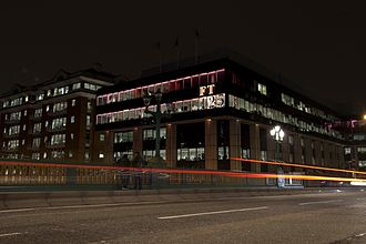 Financial Times - The London offices of the Financial Times at One Southwark Bridge (2013).