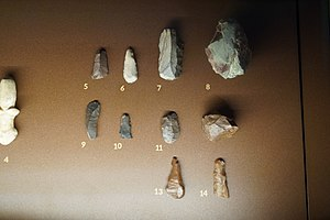 Archaeological Museum of Thebes - Image: Findings Cave of Seidi