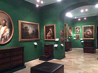 National Museum of Fine Arts, Malta - A section of the museum having antique arts and traditional Maltese furniture