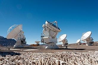 Radio astronomy - First 7-metre ESO/NAOJ/NRAO ALMA Antenna.