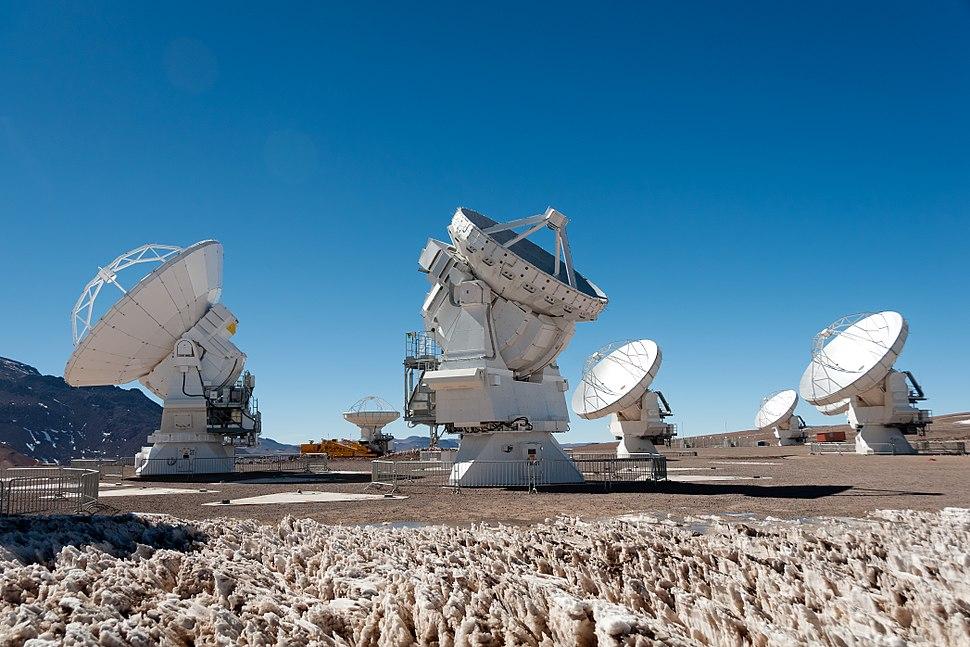 First 7-metre ALMA Antenna