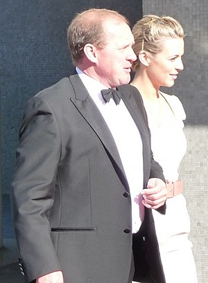 Peter Firth - Firth at the 2009 BAFTA Awards ceremony, with fellow Spooks cast member, Miranda Raison.