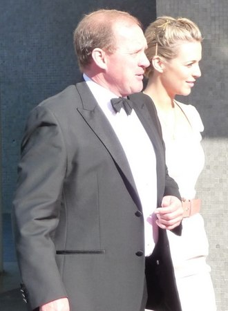 Peter Firth - Firth at the 2009 BAFTA Awards ceremony, with fellow Spooks cast member, Miranda Raison