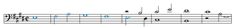 Ariadne musica - Opening bars of the E major fugue from Ariadne musica.