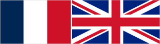 Occupied Enemy Territory Administration - Image: Flags of France and the UK