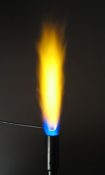 The flame test for sodium displays a brilliant...
