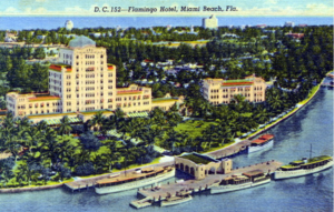 The Flamingo Hotel and surrounding Miami Beach, circa 1920s