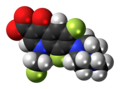 Fleroxacin zwitterion spacefill.png