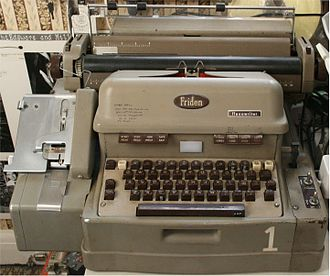 Friden Flexowriter - Model 1 SPD (Systems Programatic Double-case) equipped for edge-punched cards; most Flexowriters had paper-tape readers and punches