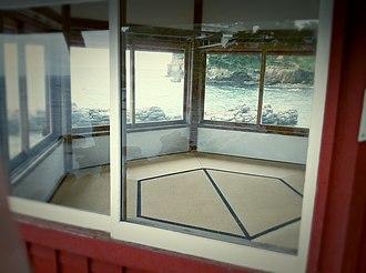 Rokkakudō (Kitaibaraki) - Interior of the Rokkaku-dō; note the shape and arrangement of the tatami